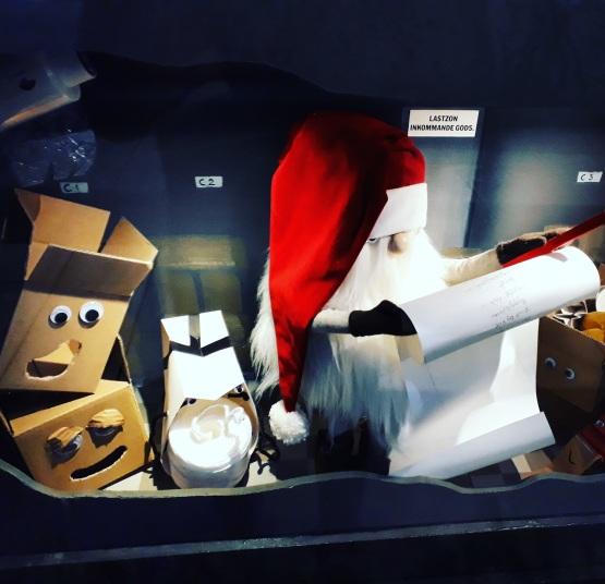 Babbo Natale al lavoro